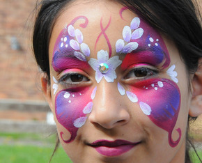 Act card butterfly face paint