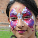 Thumb butterfly face paint