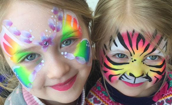 Owl image tiger face paint