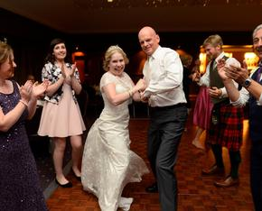 Act card kirstys wedding with dancing feet ceilidh band 3