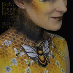 Thumb bee neck bodypaint on mel by cat pics dr cook grin bpc